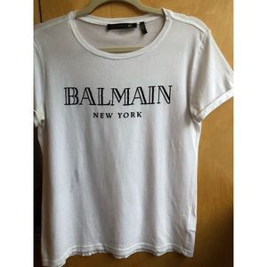 Balmain x H&M Limited Edition Collab Tee - White